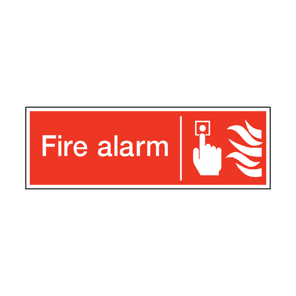 Fire Alarm Safety Sticker - Safety-Label.co.uk