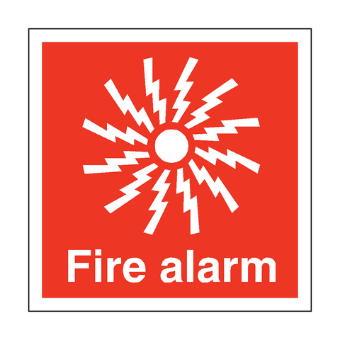 Fire Alarm Symbol Safety Sticker - Safety-Label.co.uk