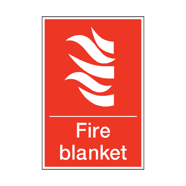 Fire Blanket Sticker | Safety-Label.co.uk
