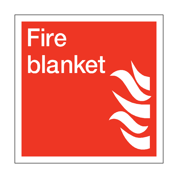 Fire Blanket Square Sticker | Safety-Label.co.uk