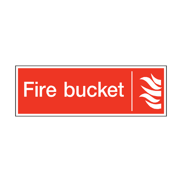 Fire Bucket Safety Sticker - Safety-Label.co.uk