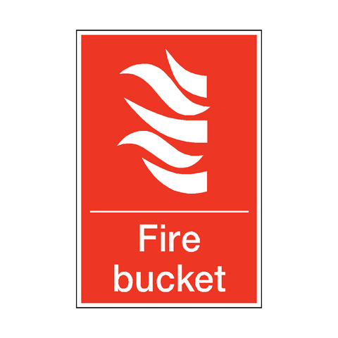 Fire Bucket Sticker - Safety-Label.co.uk