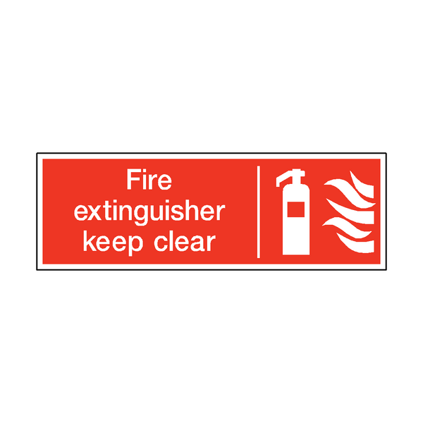 Fire Extinguisher Keep Clear Safety Sticker - Safety-Label.co.uk