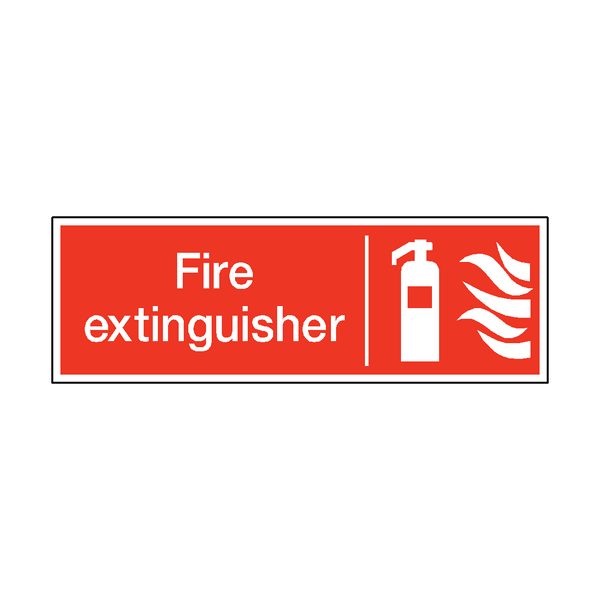 Fire Extinguisher Safety Sticker | Safety-Label.co.uk