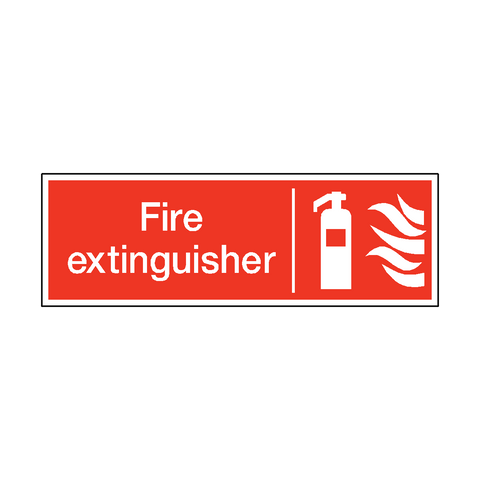 Fire Extinguisher Safety Sticker - Safety-Label.co.uk