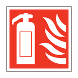 Fire Extinguisher Square Sticker | Safety-Label.co.uk
