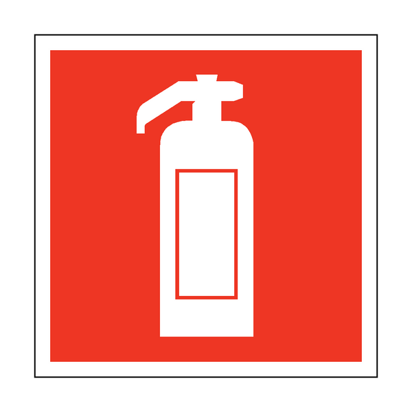 Fire Extinguisher Symbol Safety Sticker - Safety-Label.co.uk