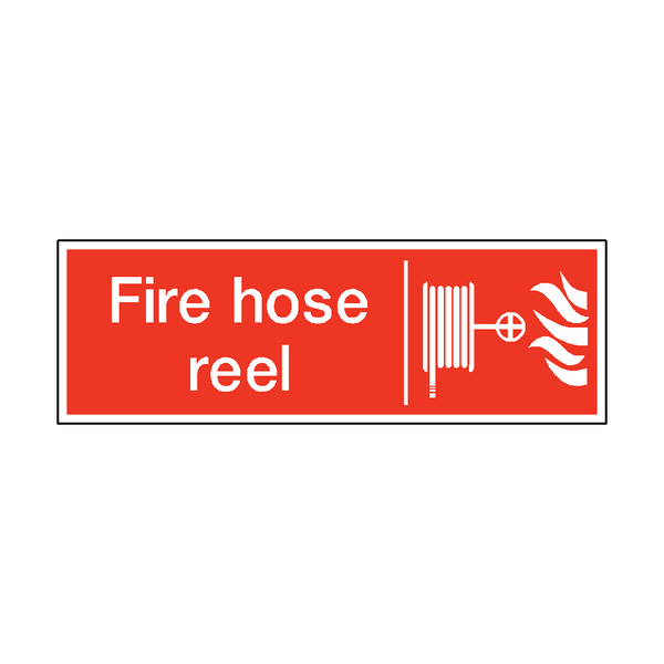 Fire Hose Reel Safety Sticker | Safety-Label.co.uk