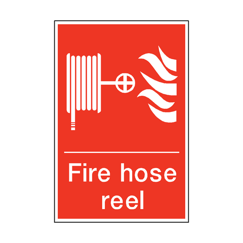 Fire Hose Reel Sticker - Safety-Label.co.uk
