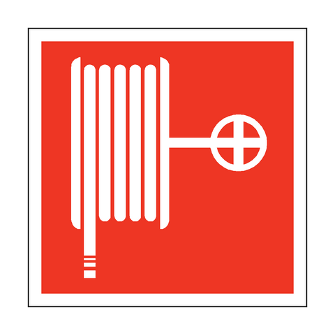 Fire Hose Reel Symbol Safety Sticker - Safety-Label.co.uk