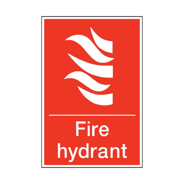Fire Hydrant Sticker | Safety-Label.co.uk
