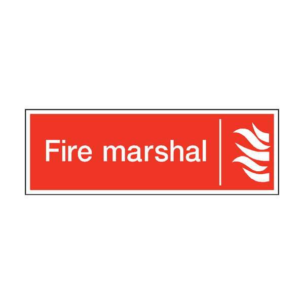 Fire Marshal Safety Sticker - Safety-Label.co.uk
