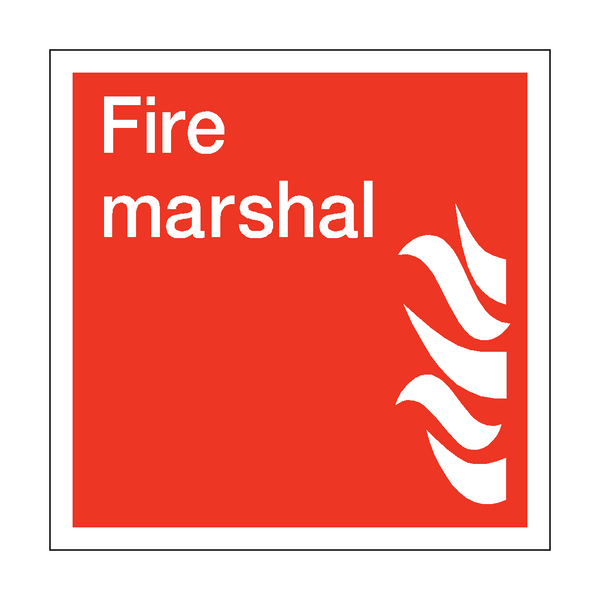 Fire Marshal Square Sticker - Safety-Label.co.uk