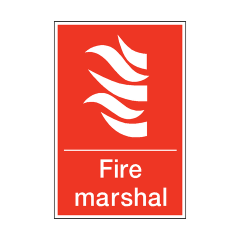 Fire Marshal Sticker - Safety-Label.co.uk