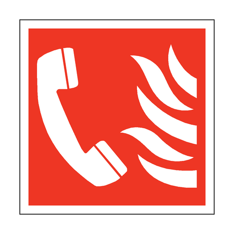 Fire Phone Symbol Safety Sticker - Safety-Label.co.uk