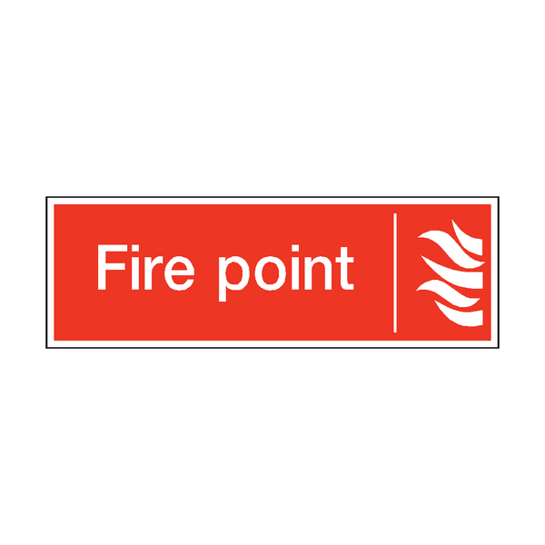Fire Point Safety Sticker - Safety-Label.co.uk