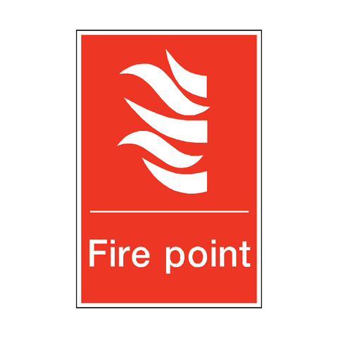 Fire Point Sticker - Safety-Label.co.uk