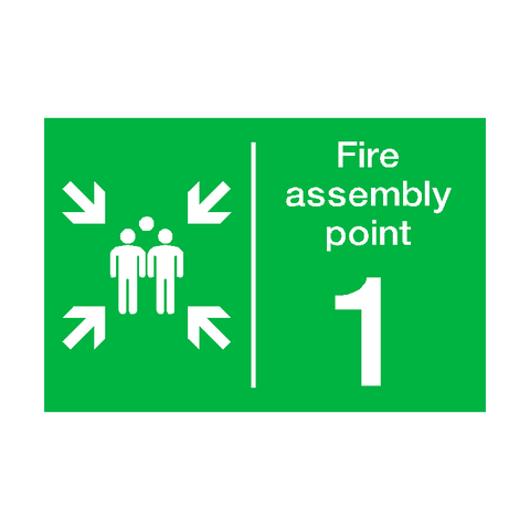 Fire Assembly Point One Sticker - Safety-Label.co.uk