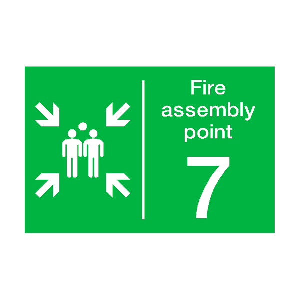 Fire Assembly Point Seven Sticker - Safety-Label.co.uk