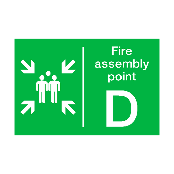 Fire Assembly Point D Sticker - Safety-Label.co.uk
