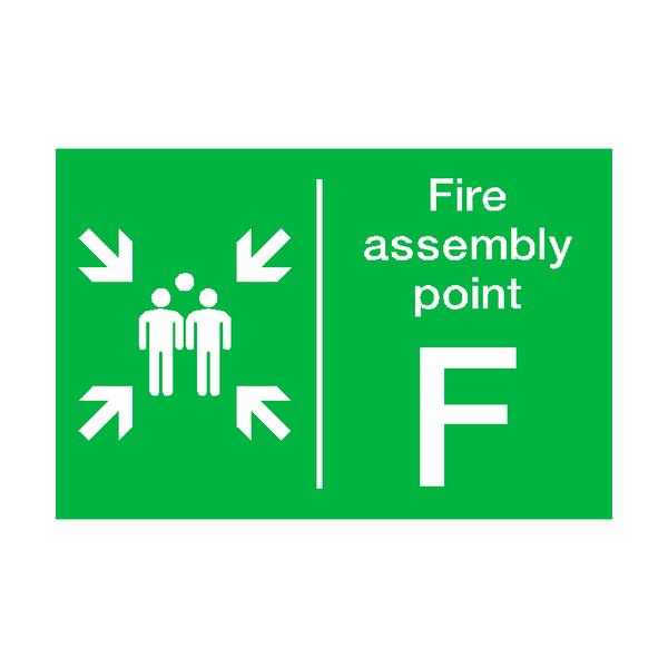 Fire Assembly Point F Sticker - Safety-Label.co.uk