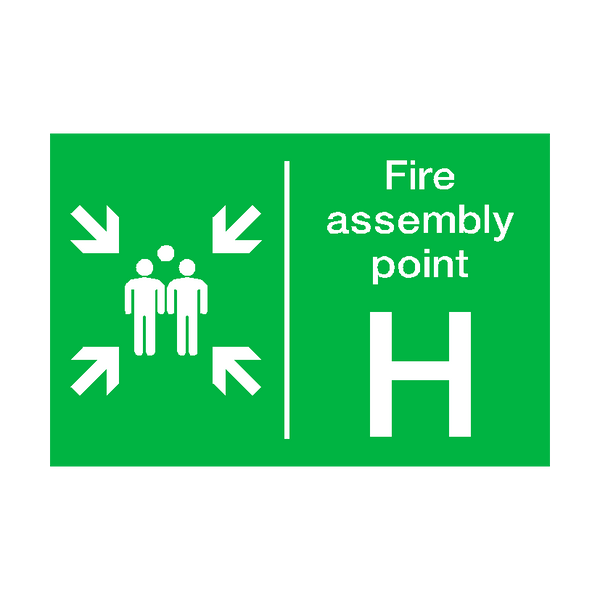 Fire Assembly Point H Sticker - Safety-Label.co.uk