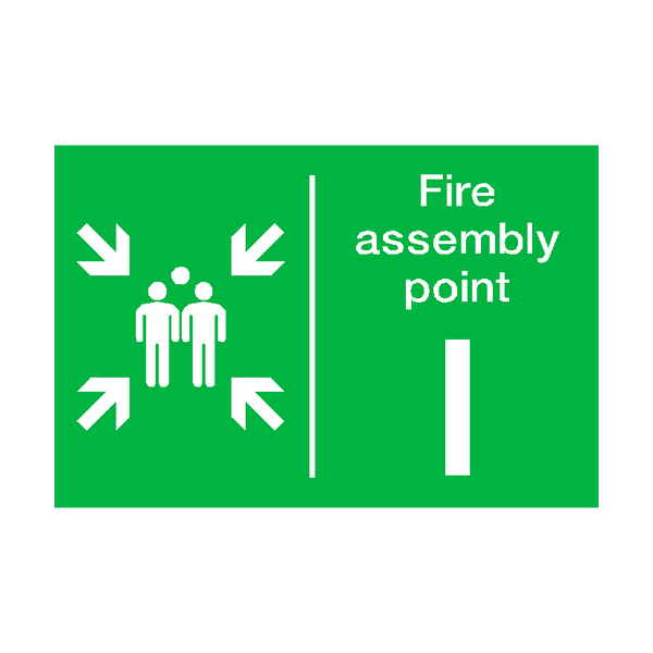 Fire Assembly Point I Sticker - Safety-Label.co.uk