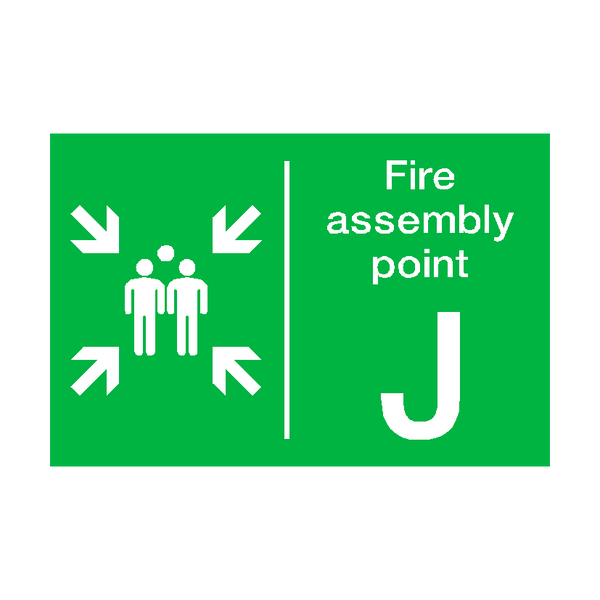 Fire Assembly Point J Sticker | Safety-Label.co.uk