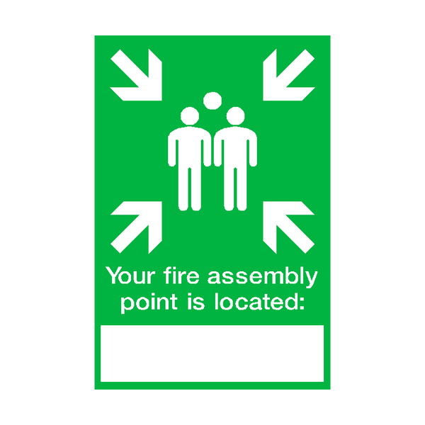 Fire Assembly Location Point Sticker | Safety-Label.co.uk