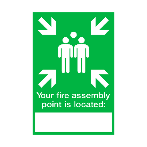 Fire Assembly Location Point Sticker - Safety-Label.co.uk