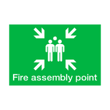 Fire Assembly Point Landscape Sticker | Safety-Label.co.uk