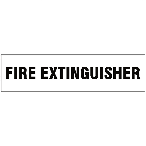 Fire Extinguisher Vehicle Sticker - Safety-Label.co.uk