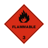 Flammable 3 Label - Safety-Label.co.uk