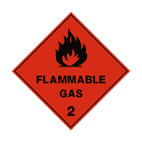 Flammable Gas 2 Label - Safety-Label.co.uk