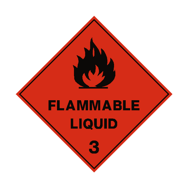 Flammable Liquid 3 Label | Safety-Label.co.uk