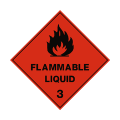 Flammable Liquid 3 Label - Safety-Label.co.uk - 1