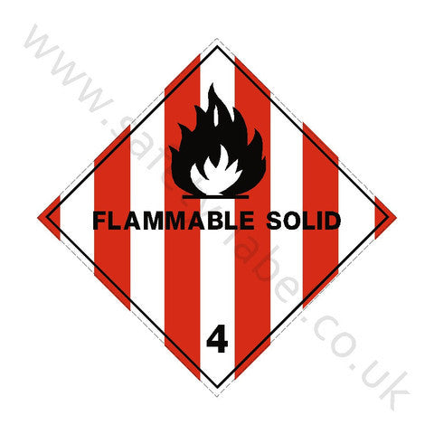 Flammable Solids 4 Sign | Safety-Label.co.uk