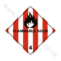 Flammable Solids 4 Sign - Safety-Label.co.uk