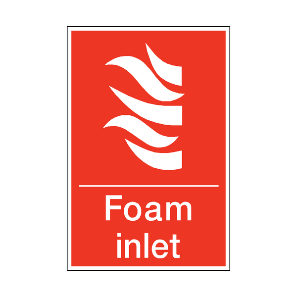 Foam Inlet Sticker | Safety-Label.co.uk