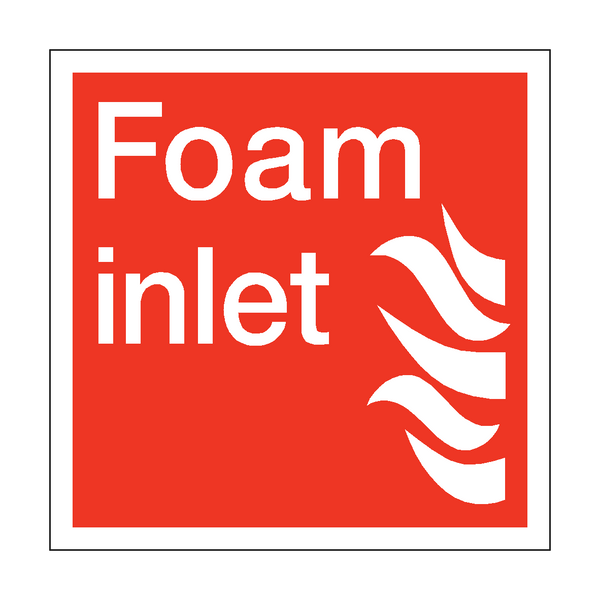 Foam Inlet Square Sticker | Safety-Label.co.uk