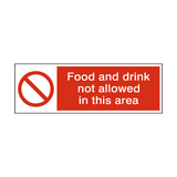 Food And Drink Not Allowed Hygiene Sign | Safety-Label.co.uk