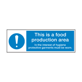 Food Production Area Hygiene Sign | Safety-Label.co.uk