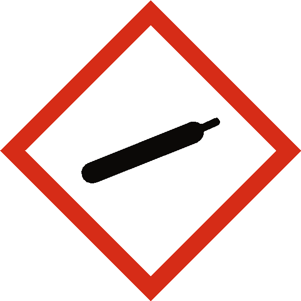 Gas Under Pressure COSHH Label - Safety-Label.co.uk