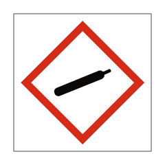 Gas Under Pressure COSHH Sign - Safety-Label.co.uk