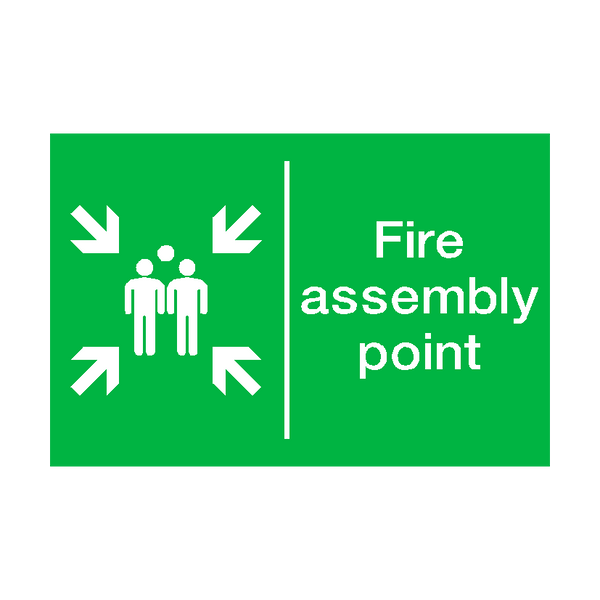 General Fire Assembly Point Sticker - Safety-Label.co.uk