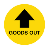Goods Out Arrow Floor Sticker | Safety-Label.co.uk