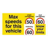 HGV Truck Speed Limit Sticker - Safety-Label.co.uk