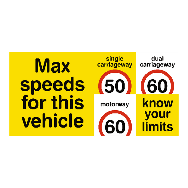 HGV Truck Speed Limit Sticker | Safety-Label.co.uk