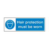 Hair Protection Must Be Worn Hygiene Sign | Safety-Label.co.uk