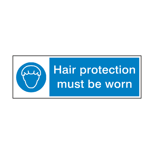 Hair Protection Must Be Worn Hygiene Sign - Safety-Label.co.uk